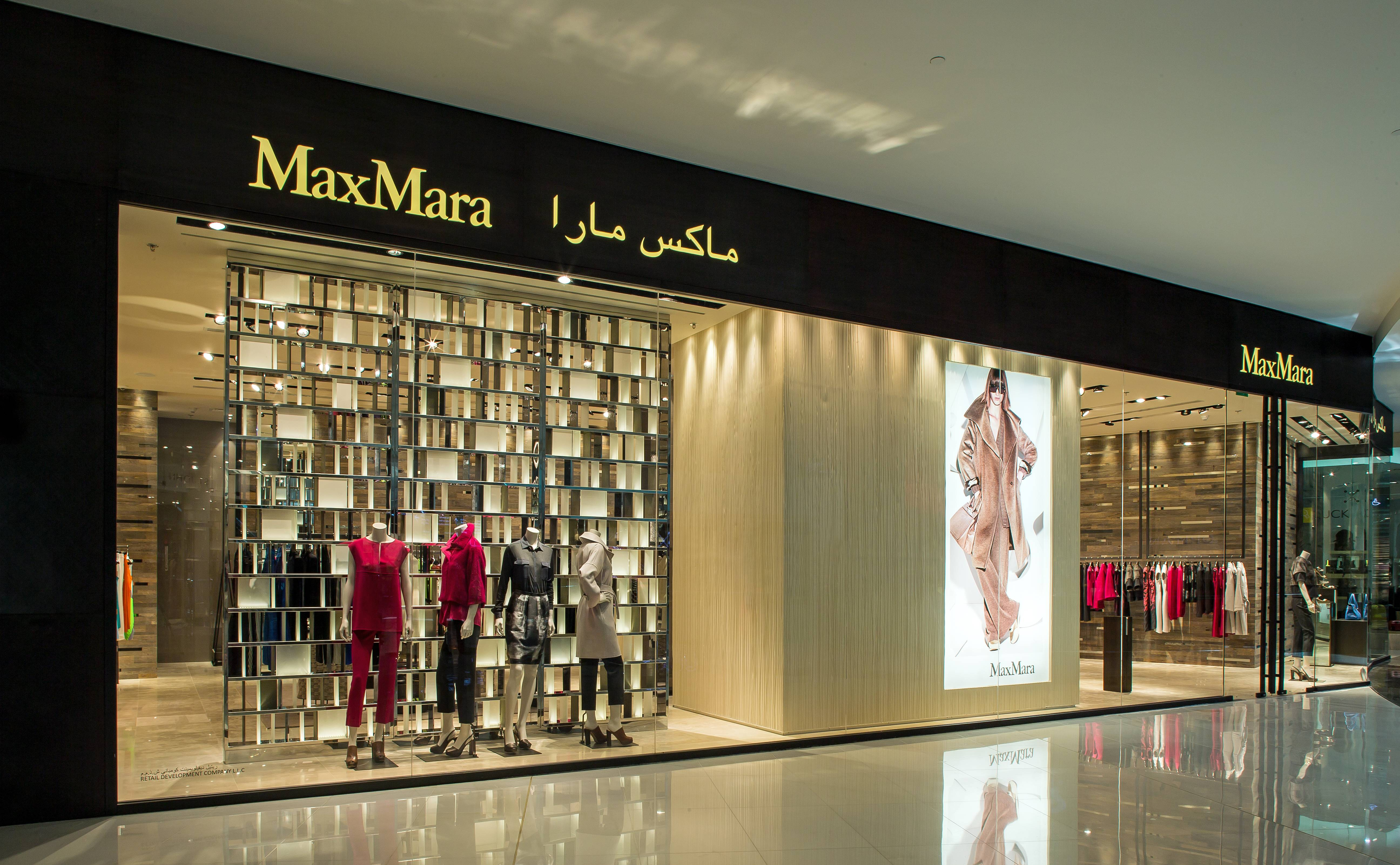 maxmara opens flagship store at the dubai mall haute living. Black Bedroom Furniture Sets. Home Design Ideas