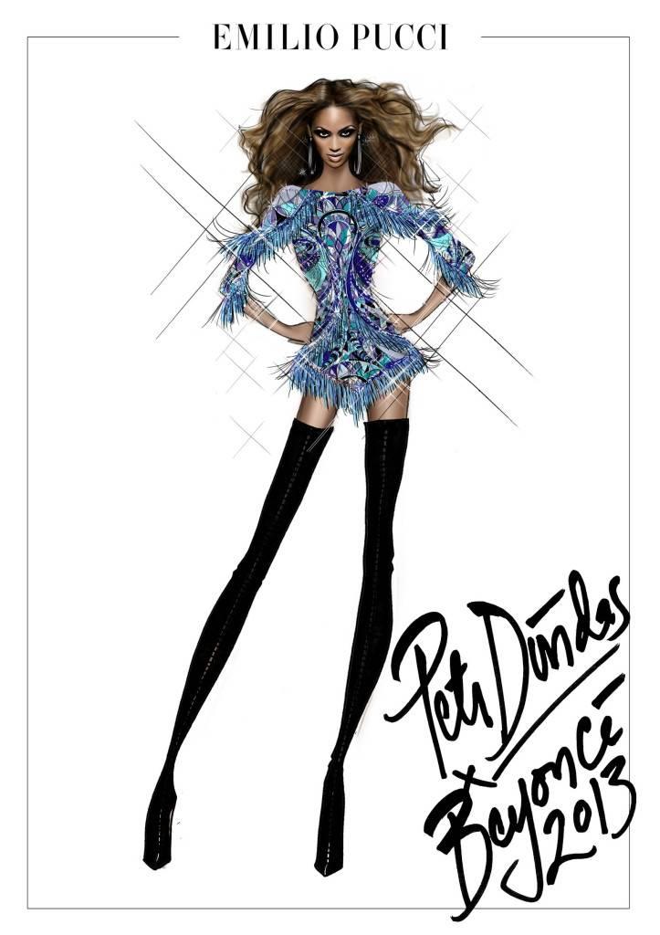Peter Dundas x Beyoncé 'Mrs Carter Show' Tour_fringe