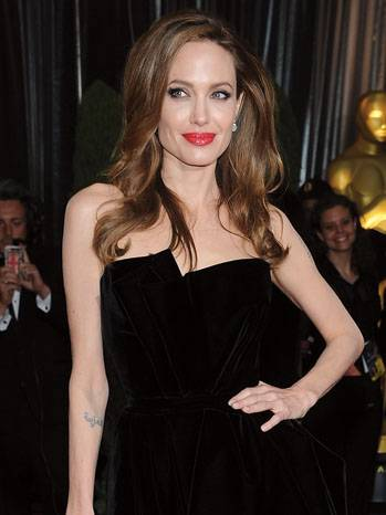 Actress and director  Angelina Jolie arr