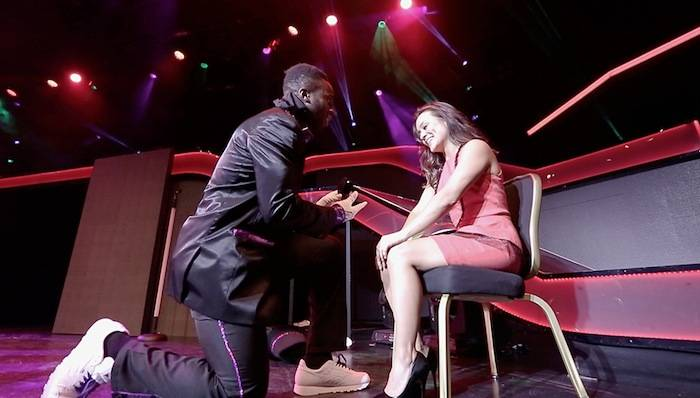 Prince Amukamara proposes to his girlfriend Pilar Davis. Photos: Joshua Jose