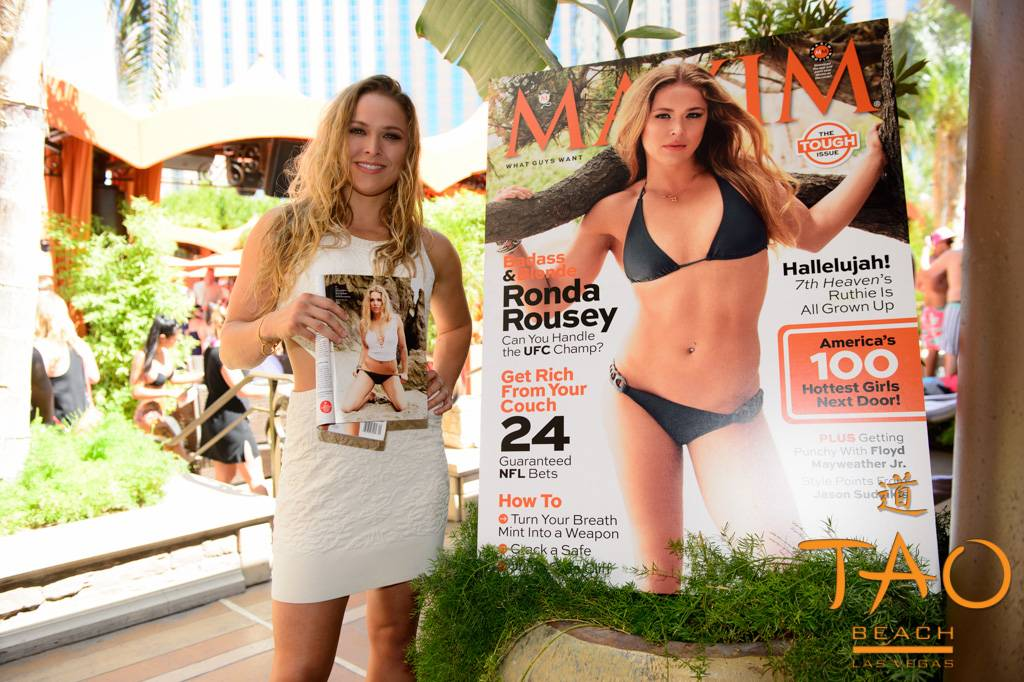 Ronda Rousey at Tao Beach. Photos: Al Powers/Powers Imagery LLC