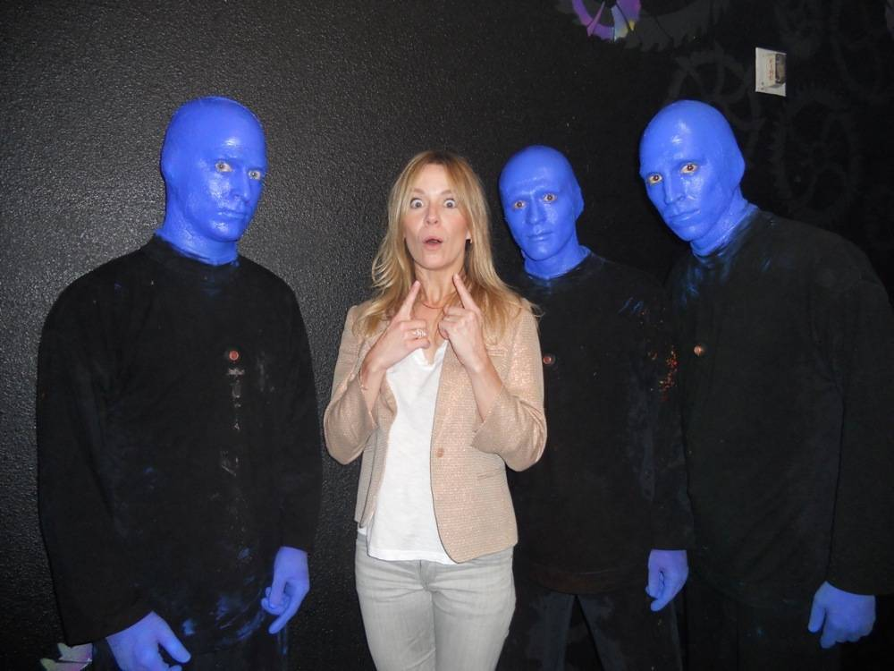 8.11.13 Véronic DiCaire at Blue Man Group at Monte Carlo Resort and Casino