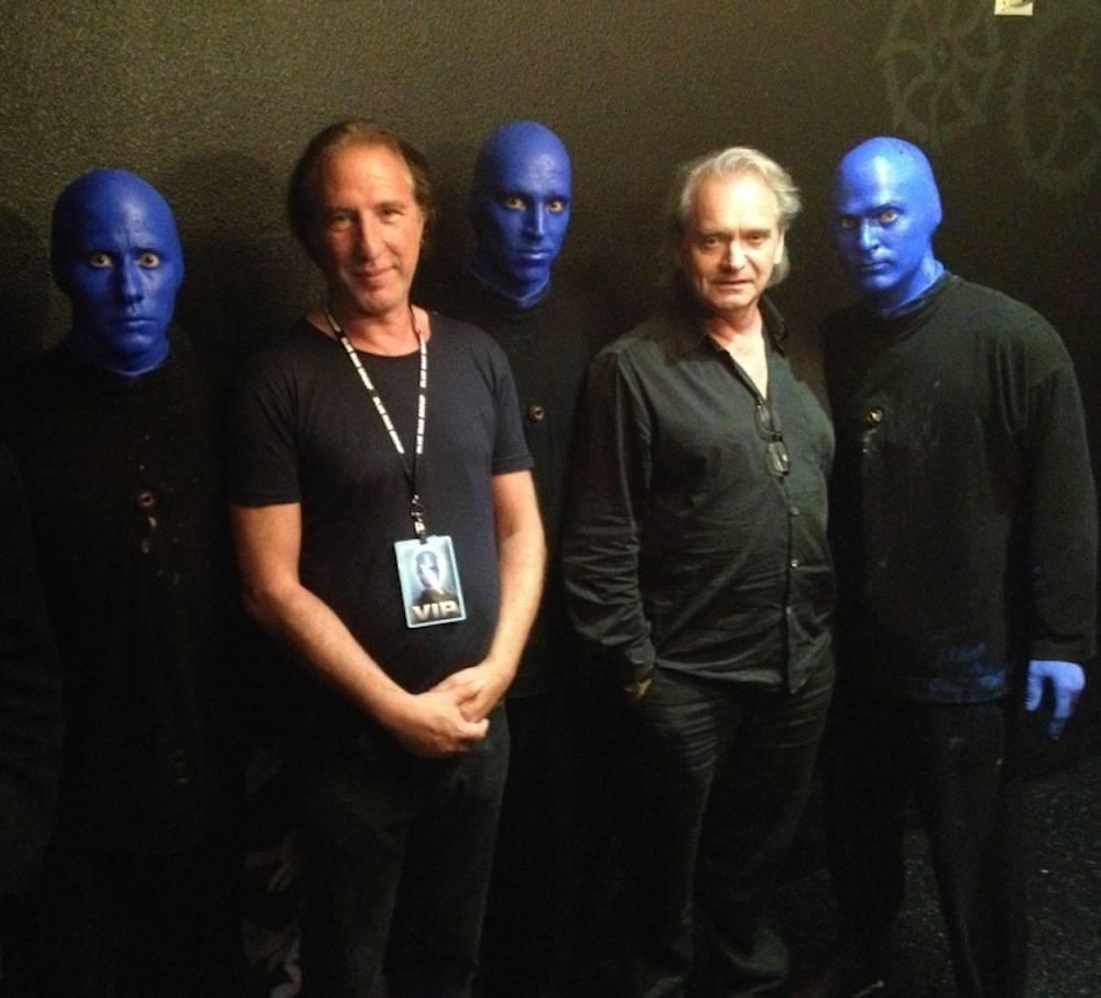 Wang Chung's Nick Feldman and Jack Hues attend Blue Man Group.