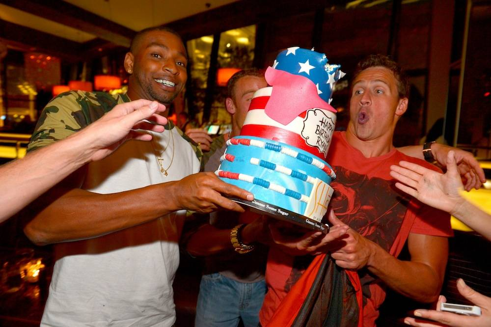 Cullen Jones and Ryan Lochte at SHE by Morton's. Photos: Bryan Steffy/WireImage