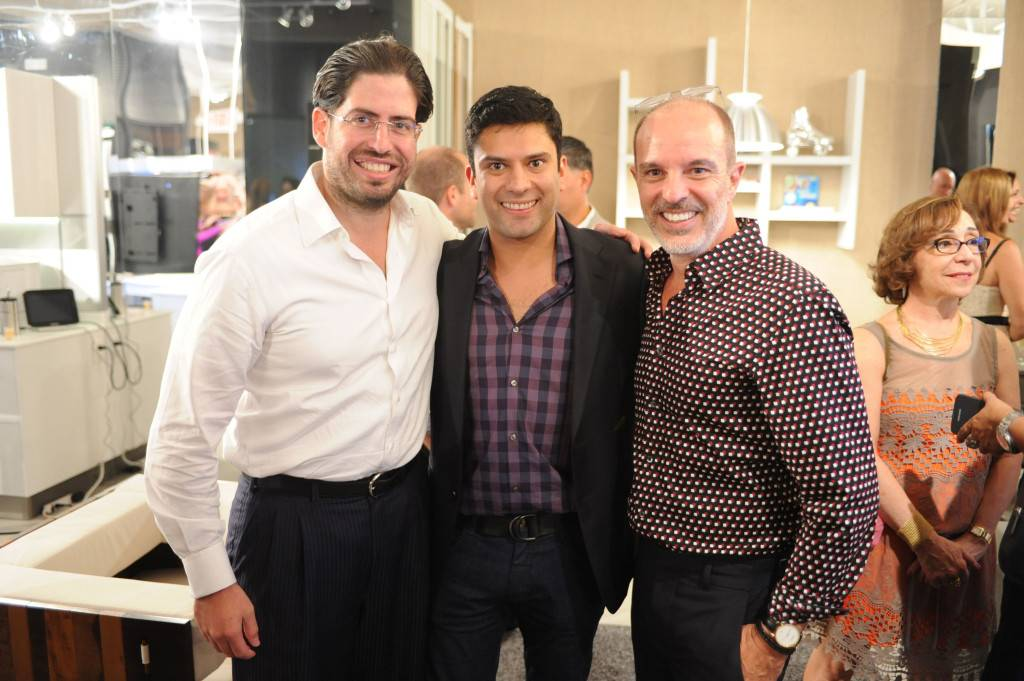 "David Martin, Claudio Faria, & Renee Gonzalez at ORNARE ""Miami HOT"" Luxury Real Estate Showcase and Miami Swim Week Preview"