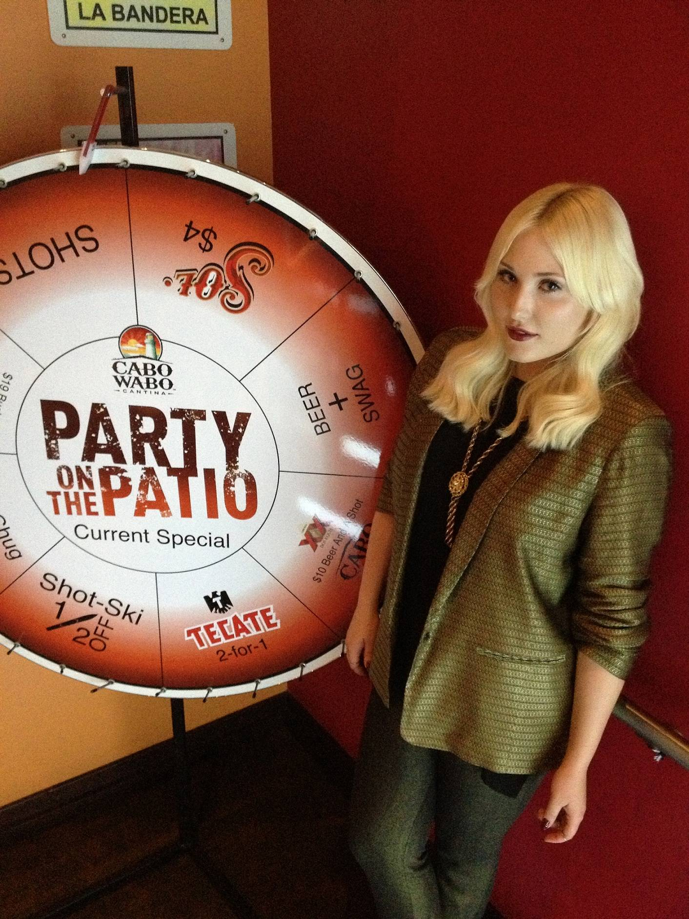 Hayley Hasselhoff poses at Cabo Wabo Cantina.
