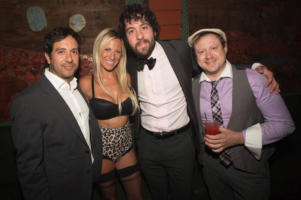 Jonathan Kite and friends at The Act Nightclub. Photos: Shane O'Neal