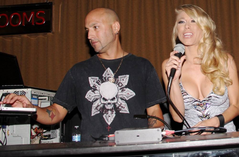 Katie Morgan emcees Bangin' Booty contest with DJ MYK inside Posh Boutique Nightclub. Photos: Joel Ginsburg