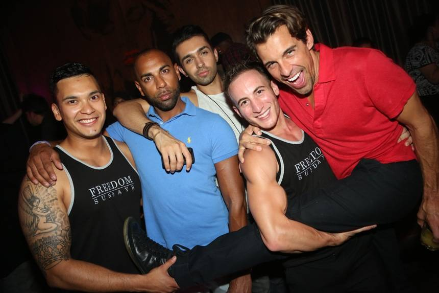 Madison Hildebrand and friends at Marquee. Photos: SPYONvegas
