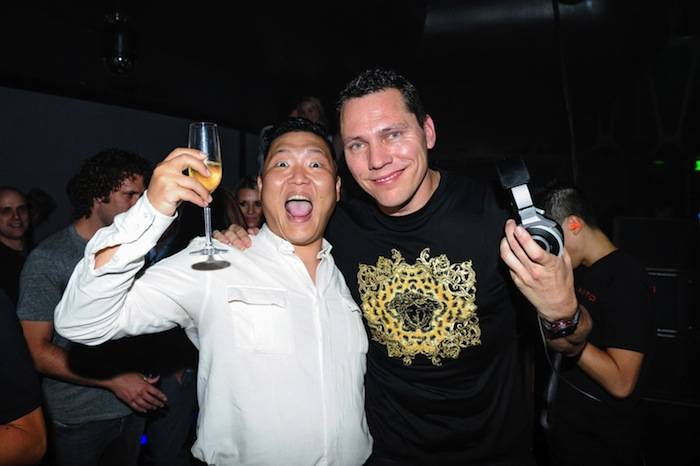Psy and Tiesto at Hakkasan. Photos: Al Powers/Powers Imagery LLC