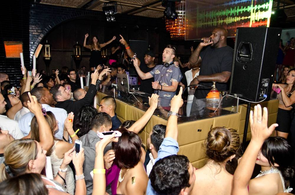 Shaquille O'Neal at Lavo. Photos: Karl Larson/Powers Imagery