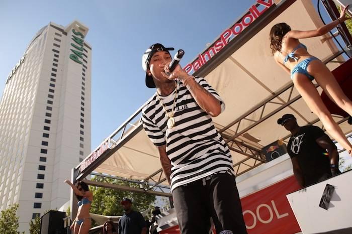Tyga performing