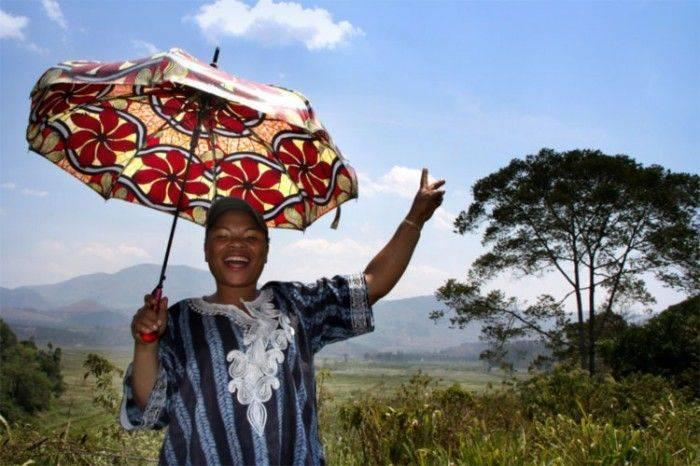lady w uymbrella
