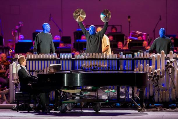 Blue Man Group at the Hollywood Bowl. Photos: Christopher Polk/Getty Images