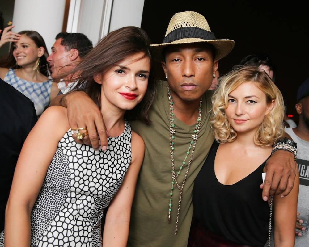 Miroslava Duma, Pharrell Williams and Nasiba Adilova