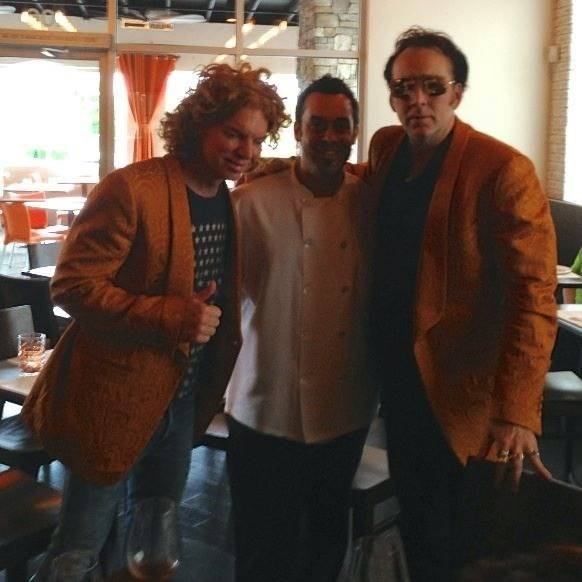 Carrot Top, Carlos Buscaglia and Nic Cage at Due Forni.