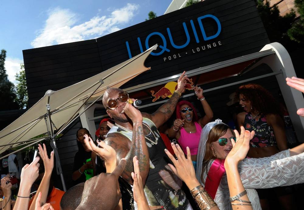 FloRida Continues The Labor Day Weekend Celebration With A Special Poolside Performance At Liquid Pool Lounge At ARIA