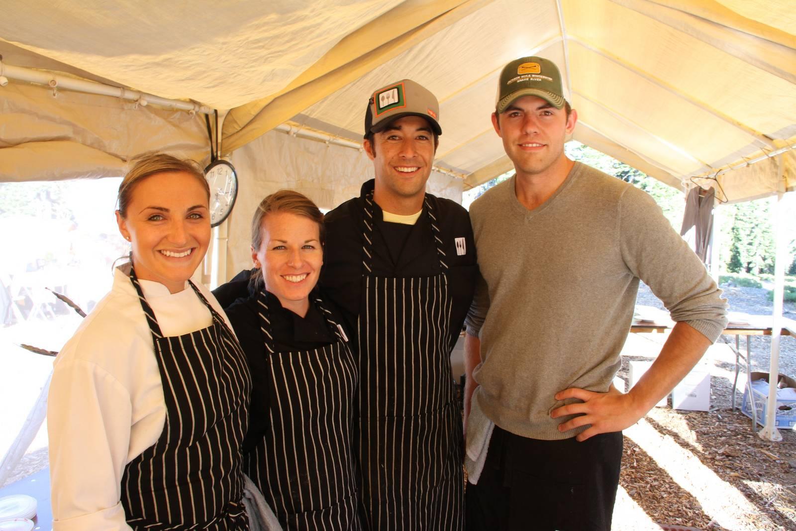 Kellan Kitchen's Chef Kellan Hori, Sous Chef Amanda Adams and Pastry Chef Marla Gertz Photo: Paul Raymore