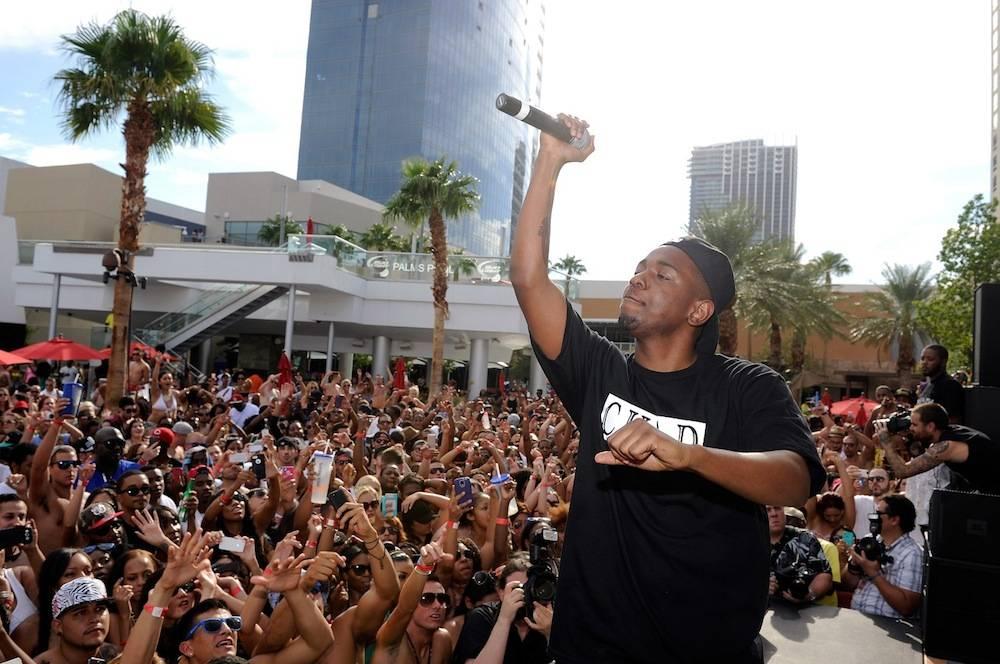 Kendrick Lamar performs at the Palms Pool. Photos: David Becker/WireImage