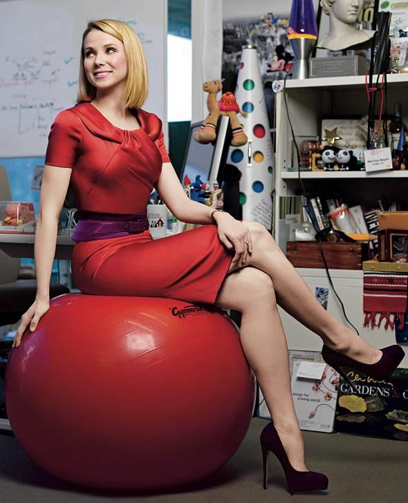 Marissa Mayer poses for Vogue.  Source: news.softpedia.com