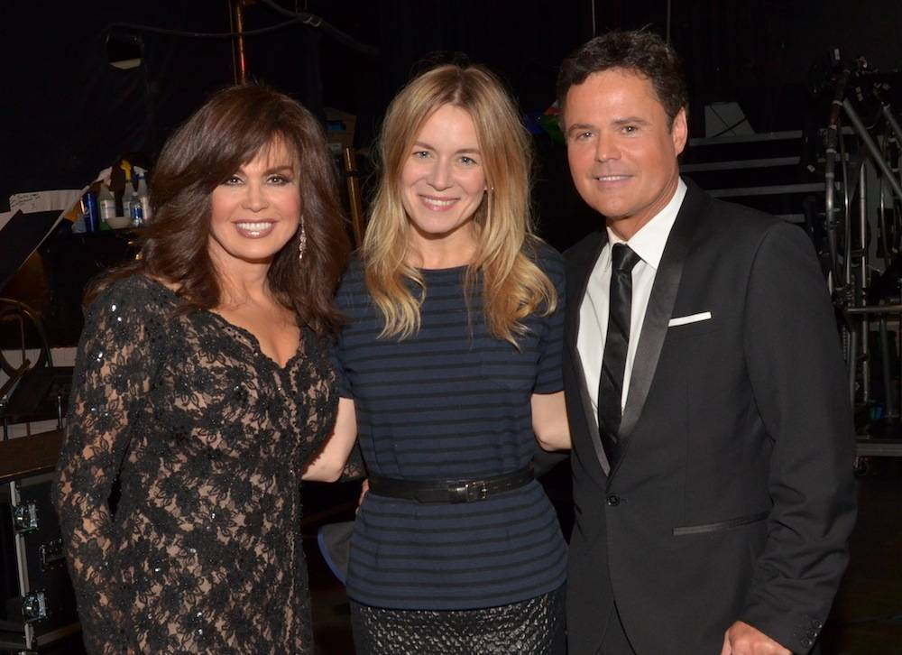 Marie Osmond, Véronic DiCaire, Donny Osmond at Flamingo Las Vegas.