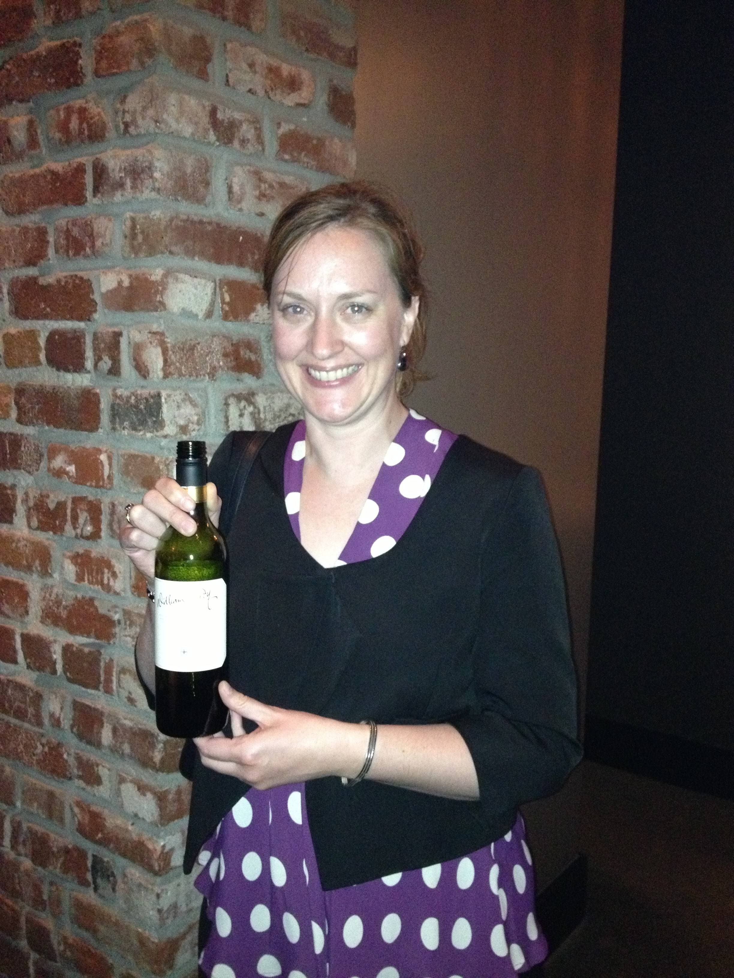 Kate Hardy with her father's namesake William Hardy Wine