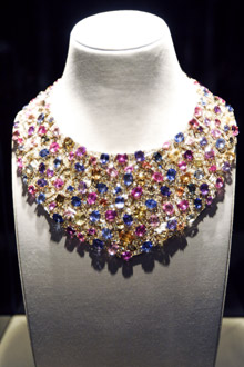 A multi-colored necklace purchased for $350,000