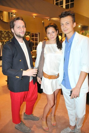 Derek Blasberg, Julie Hardy, and German Larkin