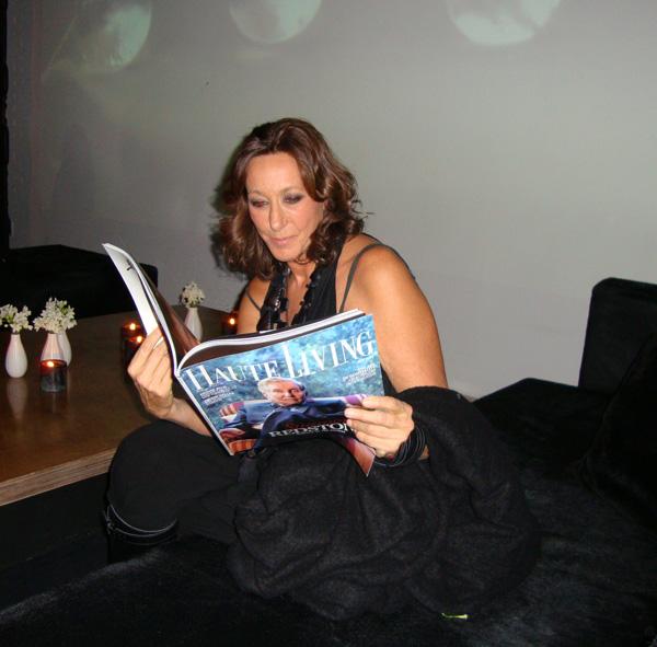 Donna Karan reads Haute Living