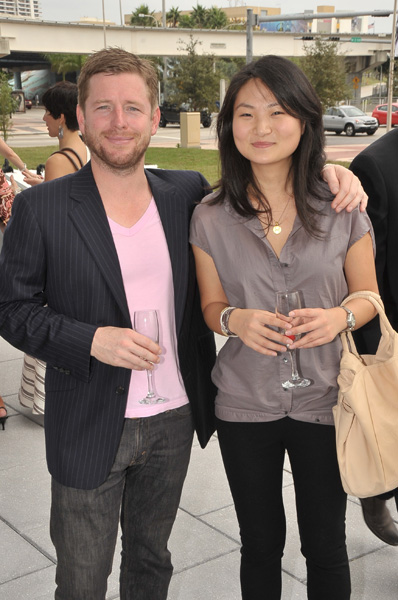 Jeff Lawson (co-founder art Asia) & Queenie Wang at Art Asia at Marquis