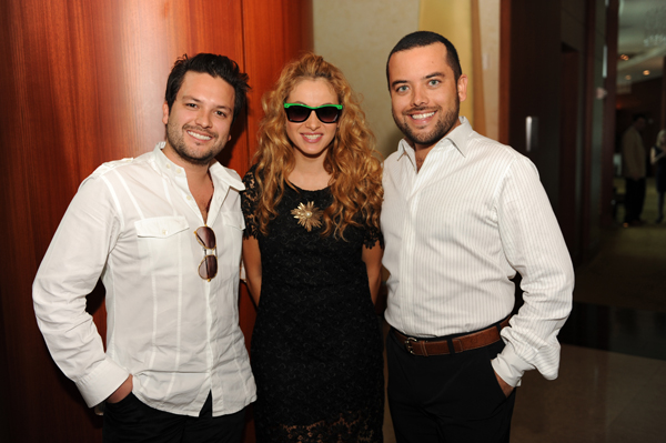 Juan Alevaro, Paulina Rubio, and Jorge Alevaro