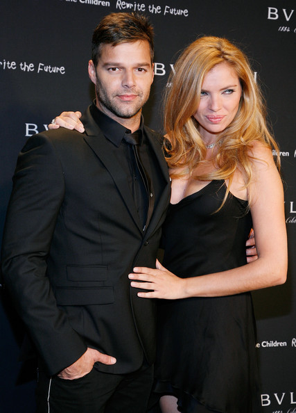 Ricky Martin with Esther Canada
