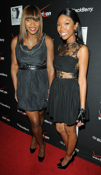 Serena Williams and Brandy